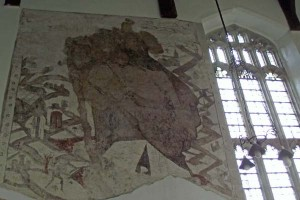 Medieval Wall Painting, Cottered Church