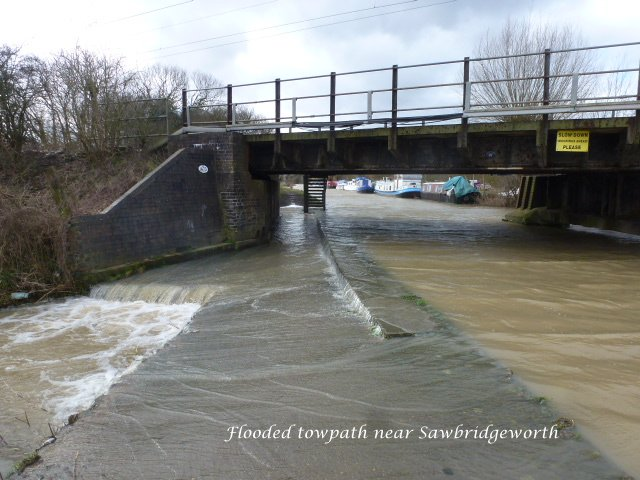 Flooded Towpath, near Sawbridgeworth