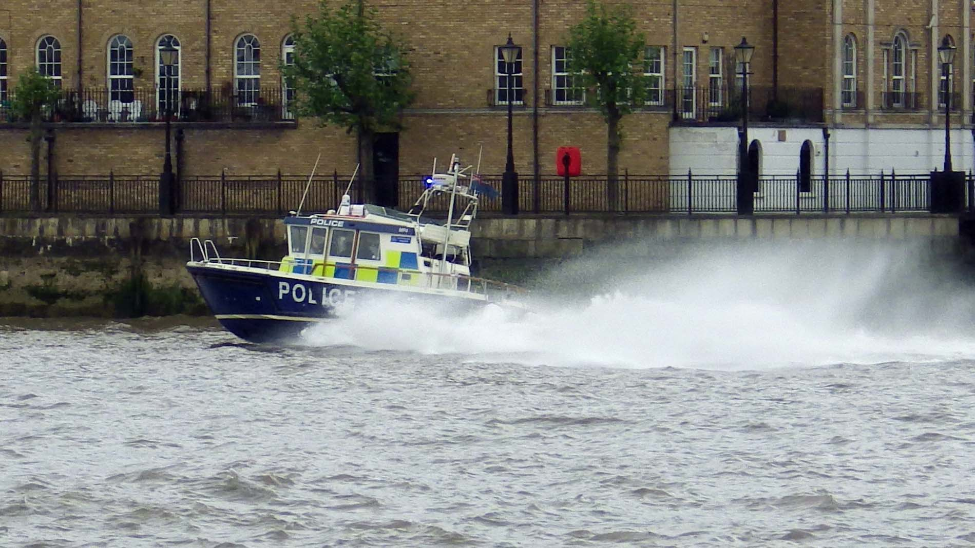 Police Launch on Thames