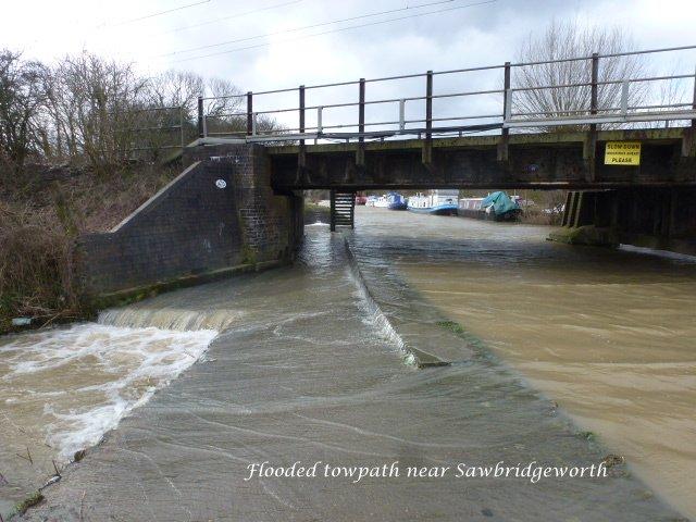 Flooded Towpath, near Sawbridgeworth